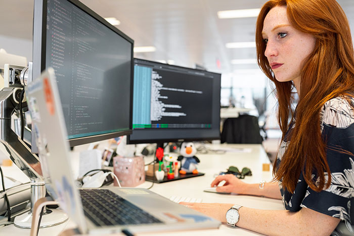Woman on compupter